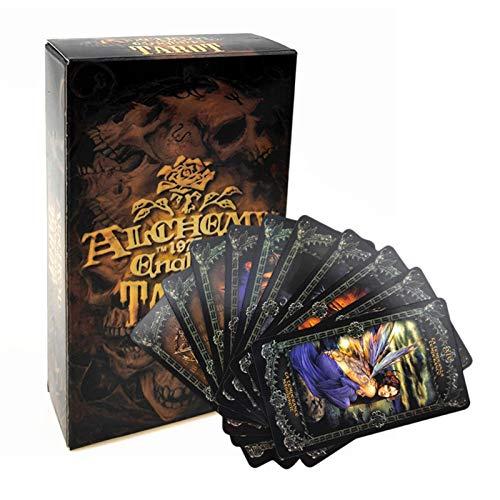WUYANSE 78PCS Tarot Karten Deck Fantasy Gothic Tarot Karten Schreibtisch Kartenspiel für Alchemie 1977 England