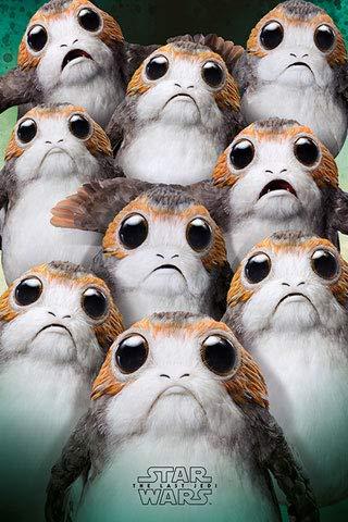 Star Wars - The Last Jedi - EP8 - Many Porgs - Poster Plakat Druck - Größe 61x91,5 cm + 1 Ü-Poster der Grösse 61x91,5cm