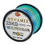 WFT Round Dynamix KG Multicolor 1000m geflochtene Schnur, Durchmesser:0.20mm