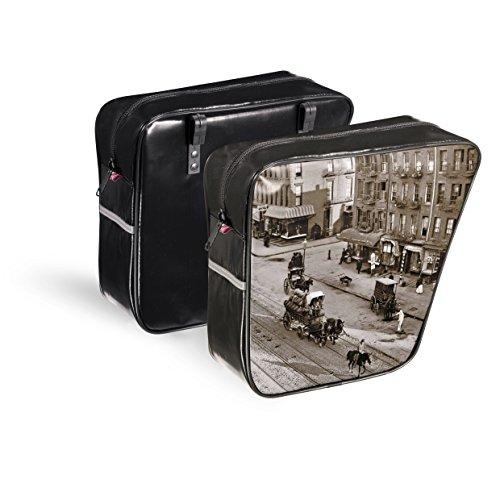 Fietstas bagagedrager dubbele paktas VARNISH Bag 0041 SALE&PEPE SKAY leer Selle Montegrappa 2015 - Made in Italy
