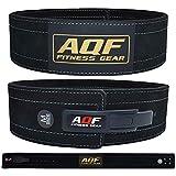 AQF Cinturon Lumbar Gimnasio para Levantamiento De Cinturon Gym Hebilla de Palanca...