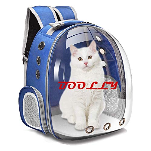 BOOLLY New York Subway Cat Backpack Carrier Bubble Bag, Small Dog Backpack Carrier for Small Dogs, Space Capsule Pet Carrier Dog Hiking Backpack Airline -2020 Best Travel Cat/Dog Backpack