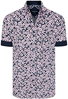 Tarocash Men's Hula Floral Print Shirt Long Sleeve Fit Sizes XS-5XL for Going Out Smart Casual