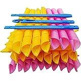 Paquet de 43 kits de coiffage en spirale pour boucles de cheveux magiques, 40 bigoudis sans chaleur et 3 crochets de style