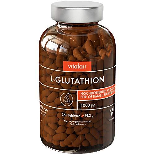 L-Glutathion - 300mg pro Tagesdosis - 100 Kapseln - Hochdosiert, Rein & Reduziert - Tripeptid: Glutaminsäure, Cystein und Glycin - Vegan - Ohne Magnesiumstearat - German Quality