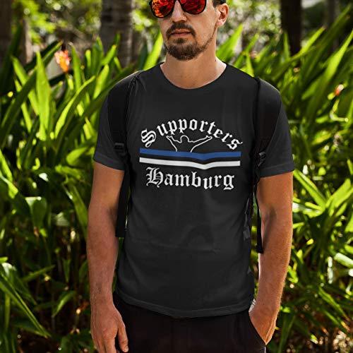 World of Football T-Shirt Supporters-Hamburg Schwarz - XL