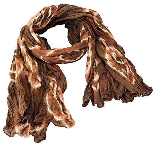 GURU SHOP Batiktuch, Batikschal, Batiksarong, Herren/Damen, Cappuccino/rost, Baumwolle, Size:One Size, 180x100 cm, Tücher Alternative Bekleidung