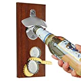 Beer Bottle Opener With Strong Magnet, Used on Refrigerator or Metal Surface, Convenient for One-handed Operation, Open Bottles, Collect Bottle Caps