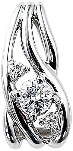 カナディアンダイヤモンドペンダントヘッド 計0.20ctUP[PT950] 専用ケース付