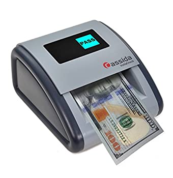 Cassida InstaCheck Small Footprint Easy to Read Automatic Counterfeit Detector with Infrared Magnetic and Ultraviolet Sensors Compact and Lightweight
