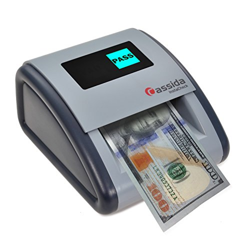 Cassida InstaCheck Small Footprint, Easy to Read Automatic Counterfeit Detector with Infrared, Magnetic and Ultraviolet Sensors, Compact and Lightweight