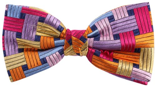 Knightsbridge Neckwear Multi-colour Rectangles Silk cravate de