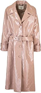 FENDI Luxury Fashion Womens FPS802A9F7F19EK Pink Trench Coat |