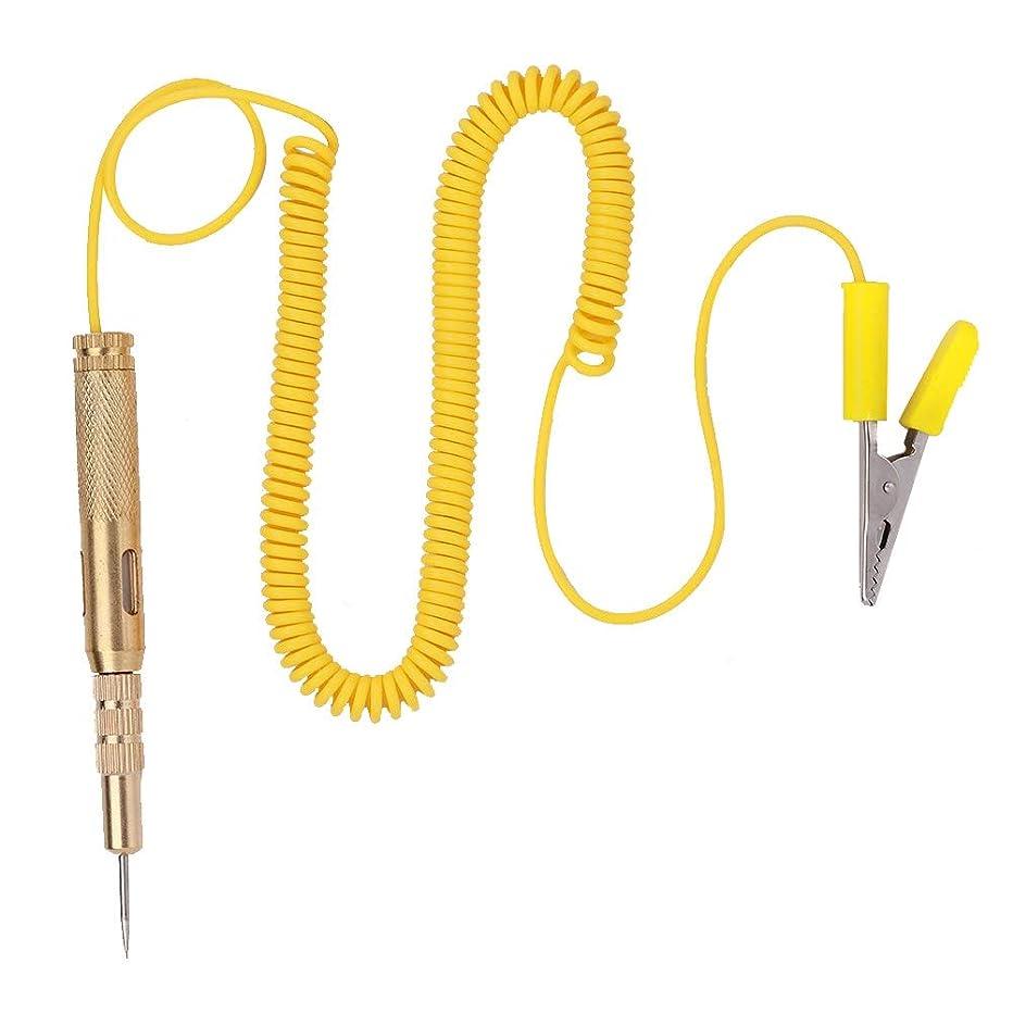 Qiilu Auto Car Vehicle Circuit Tester DC 6V 12V 24V Light Bulb Voltage Test Pen Pencil Yellow