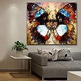 KWzEQ Imprimir en Lienzo Mandala pájaro Pared Imagen decoración del hogar para Dormitorio Sala de Estar carteles75x75cmPintura sin Marco