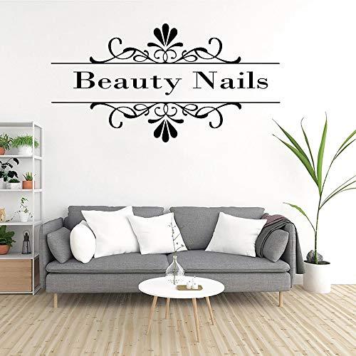 Nail Art Vinilo Pegatinas de pared Nail Art Salon Pegatinas de pared Pegatinas de pared Coche Logo Patrón Fotos