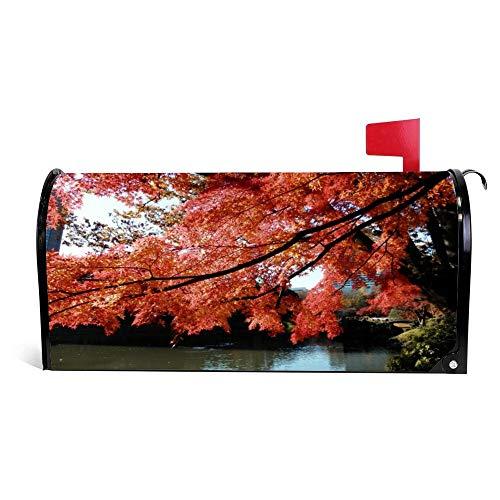 wendana Tokyp'S mooie herfst bladeren brievenbus cover magnetische Vinyl huis tuin Decor postbus wrap post brief box cover 18