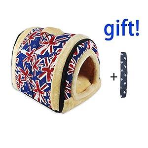 ANPI 2 en 1 Casa y Sofá para Mascotas, Lavable a Máquina Casa Cama de Perro Gato Puppy Conejo Mascota Antideslizante Plegable Suave Calentar con Cojín Extraíble Colchón, 3 Tamaños 4