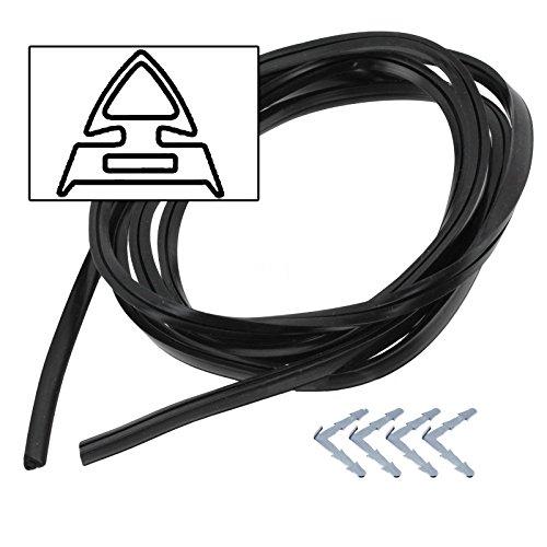 Spares2go rubberen deurafdichting met prikkelklemmen voor DeLonghi Oven Fornuizen
