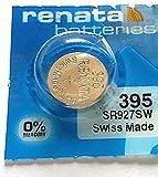 Renata Uhrenbatterie SP 395 ///;(399+) SR927SW (SR57,399,AG7,LR926,LR57,195);1 Pack