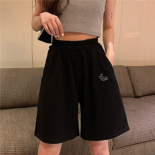 ShSnnwrl Pantaloncini da Donna Pantaloncini Donna Ricamo Elasticità Belle Ragazze Stile Coreano Dolce Studenti Harajuku Colorato Semplici Pantal