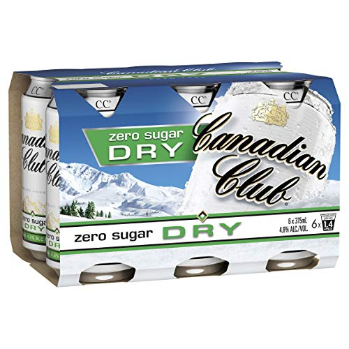 Canadian Club Whisky & Zero Sugar Dry Cans, 375ml (Pack Of 6)