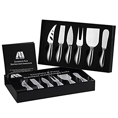 Premium 6-Piece Cheese Knife Set - M MH ZONE Complete Stainless Steel Cheese Knives Collection, Suit for the Lover, Elders, Children and Friends, Perfect School Supplies