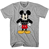 Disney Mickey Mouse Tough Men's Adult Graphic Tee T-Shirt (Grey Heather, X-Large)