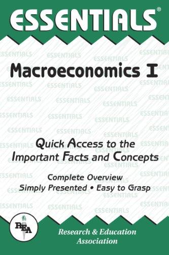 The Essentials of Macroeconomics, Vol. 1 (Essentials Study Guides)