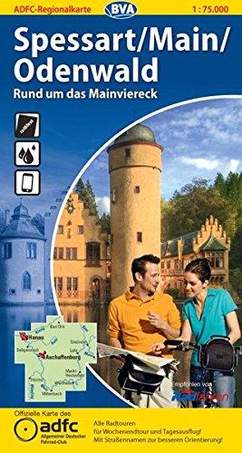 ADFC Regionalkarte Spessart / Main / Odenwald 1 : 75 000: Rund um das Mainviereck