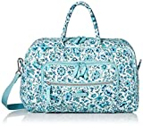 Vera Bradley Signature Cotton Compact Weekender Travel Bag, Cloud Vine