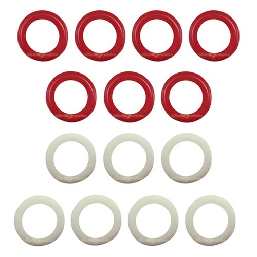 Billiard Evolution Large Rubber Rings for Bumper Pool Table: 7 Red and 7 White