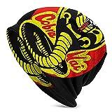 IUBBKI Kar-Ate Kid Cob-Ra Kai Unisex Adulto Knit Sombreros Beanie Sombrero Invierno Caliente Impresión Cráneo Cap