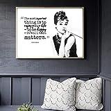 Modsjj Diamantmalerei Stitch - Audrey Hepburn Diamond Painting 30x40cm - Voll Strass Stickerei Kreuzstich Bilder Art Crafts für Zuhause Wand Dekor