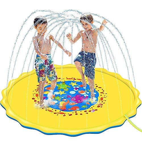AJH 170/100 cm Zomer kinderen Baby Spelen Water Mat Games Strand Pad Gazon Opblaasbare Spray Water Kussen Speelgoed Outdoor Bad Zwembad