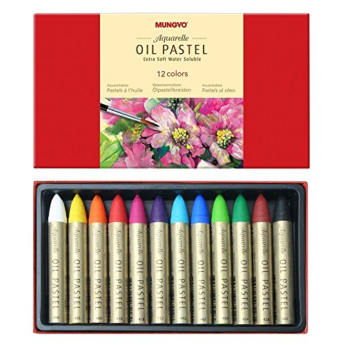 Mungyo WaterSoluble Oil Pastel Set of 12  Assorted Colors