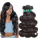 "Mink Brazilian Body Wave 12A 3 Bundles Virgin Hair Deal 100% UnprocessedBody Wave Human Hair Weave Weft Natural Color 3pcs Real Remy Human Hair Extensions Weaving ( 20""18""16"" ) Pecwu"
