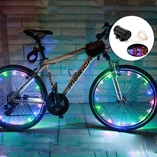 Hopowa Luces LED para Ruedas de Bicicleta, Luces de radios USB Recargables, Luces LED automáticas para Llantas de Bicicleta para neumáticos de Ruedas MTB