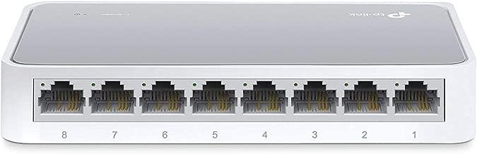 TP-Link 8 Port Fast Ethernet Switch   Desktop Ethernet Splitter   Ethernet Hub   Plug and Play   Fanless Quite   Unmanaged (TL-SF1008D)