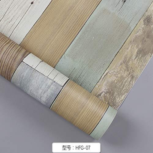 Papel Pintado Autoadhesivo De PVC Renovación De Muebles Placa De Pared De Protección Simulada Simulación De Muebles De Impresión De M Adera Pegatinas 60Cm X 10M Hfg-07