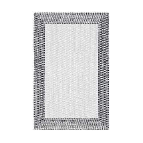 STORESDECO Alfombra vinílica Deblon – Alfombra de PVC Antideslizante y Resistente, Ideal para salón, Cocina, baño… ¡Disponible en Medidas Grandes! (120cm x 180cm, Gris)
