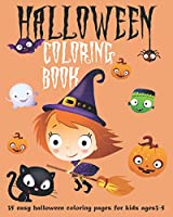 Halloween Coloring Book 35 easy halloween coloring pages for kids ages 3-5: pumpkin autumn falls activity books for toddlers kids and preschoolers age 2