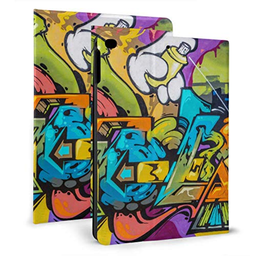Custodia per iPad Girly Hip-Hop Dipinti di Strada Custodia per iPad per iPad Mini 4   Mini 5 2018 6th   2017 5th   Air Air 2 con Astuccio Magnetico per iPad per Tablet Wake Sleep