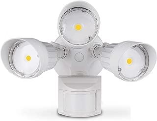 ASD LED Outdoor Flood Security Light with Motion Sensor, 30W, 3 Head, White, Motion Light, 5000K