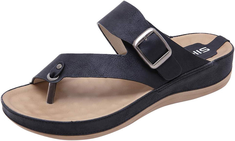 Xinantime Women's Bohemian Clip Toe Flip Sandals Comfortable Walk Large Size shoes Dress Sandals