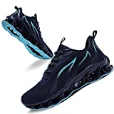 TIAMOU Running Walking Shoes Men Sport Athletic Blue Jogging Sneakers