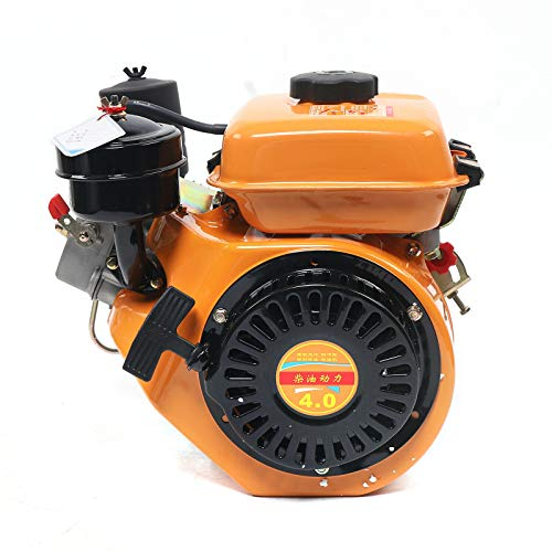 Diesel Engine, 6Hp 4 Stroke 196cc Single Cylinder Vertical Engine with Air Cooling System for Small Transportation of Forage Management Machinery Drainage & Irrigation Machinery Generator Sets
