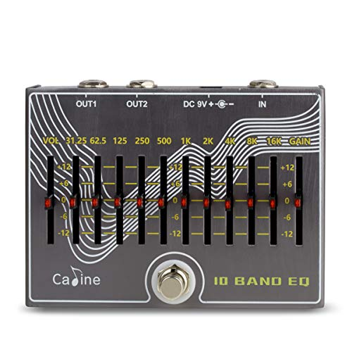 commercial Caline CP-81 guitar effects pedal, 10-band EQ and volume control eq pedal for guitar
