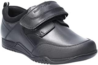 Hush Puppies Boys Noah Junior Touch Fastening Leather School Shoe