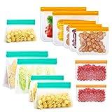 Bolsas Reutilizables para Almacenamiento de Alimentos,12 Pack Bolsas de...